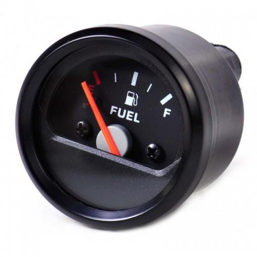 Jauge à essence universelle noire à aiguille