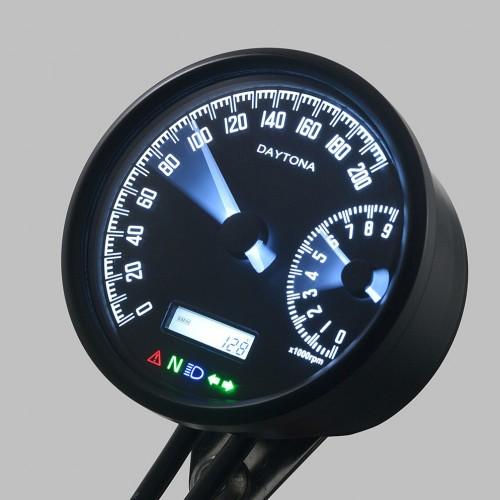 Compteur/Compte-tours Daytona Velona W D.80mm - 200 Km/h