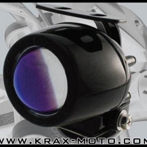 Optique lenticulaire antibrouillard mini noir